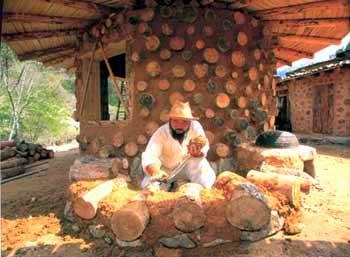 Corea un nuovo stile per la case di terra e legno for Case di tronchi di blocchi di legno