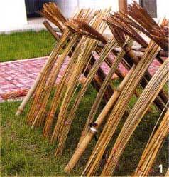 Corea Un Maestro Di Tende Tradizionali In Bambu
