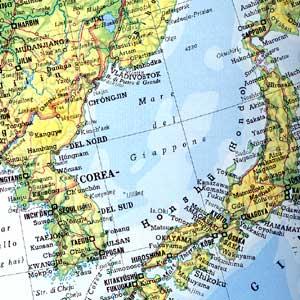 Cartina Mondo Corea.Corea Mare Orientale